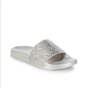 Badgley Mischka Embellished Slides Sandals